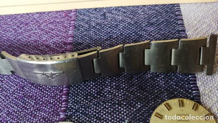 Recambios de relojes: LOTE LONGINES, 1 reloj, 2 esferas, 2 tapas con cuerda creo y armis o correa de caballero todo - Foto 35 - 157736442