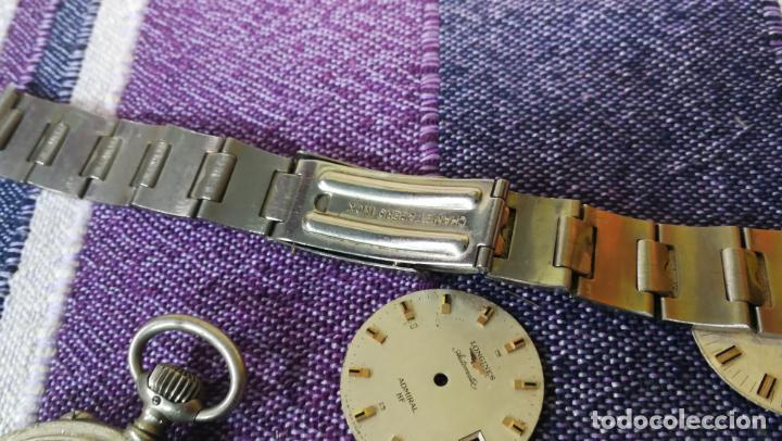 Recambios de relojes: LOTE LONGINES, 1 reloj, 2 esferas, 2 tapas con cuerda creo y armis o correa de caballero todo - Foto 36 - 157736442