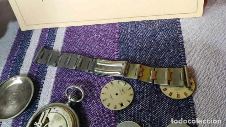 Recambios de relojes: LOTE LONGINES, 1 reloj, 2 esferas, 2 tapas con cuerda creo y armis o correa de caballero todo - Foto 37 - 157736442
