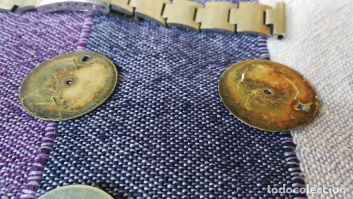 Recambios de relojes: LOTE LONGINES, 1 reloj, 2 esferas, 2 tapas con cuerda creo y armis o correa de caballero todo - Foto 38 - 157736442