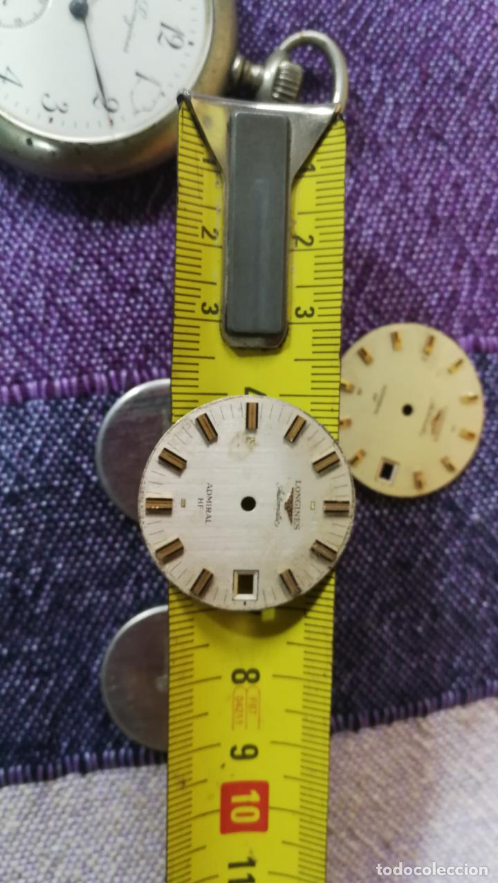 Recambios de relojes: LOTE LONGINES, 1 reloj, 2 esferas, 2 tapas con cuerda creo y armis o correa de caballero todo - Foto 41 - 157736442