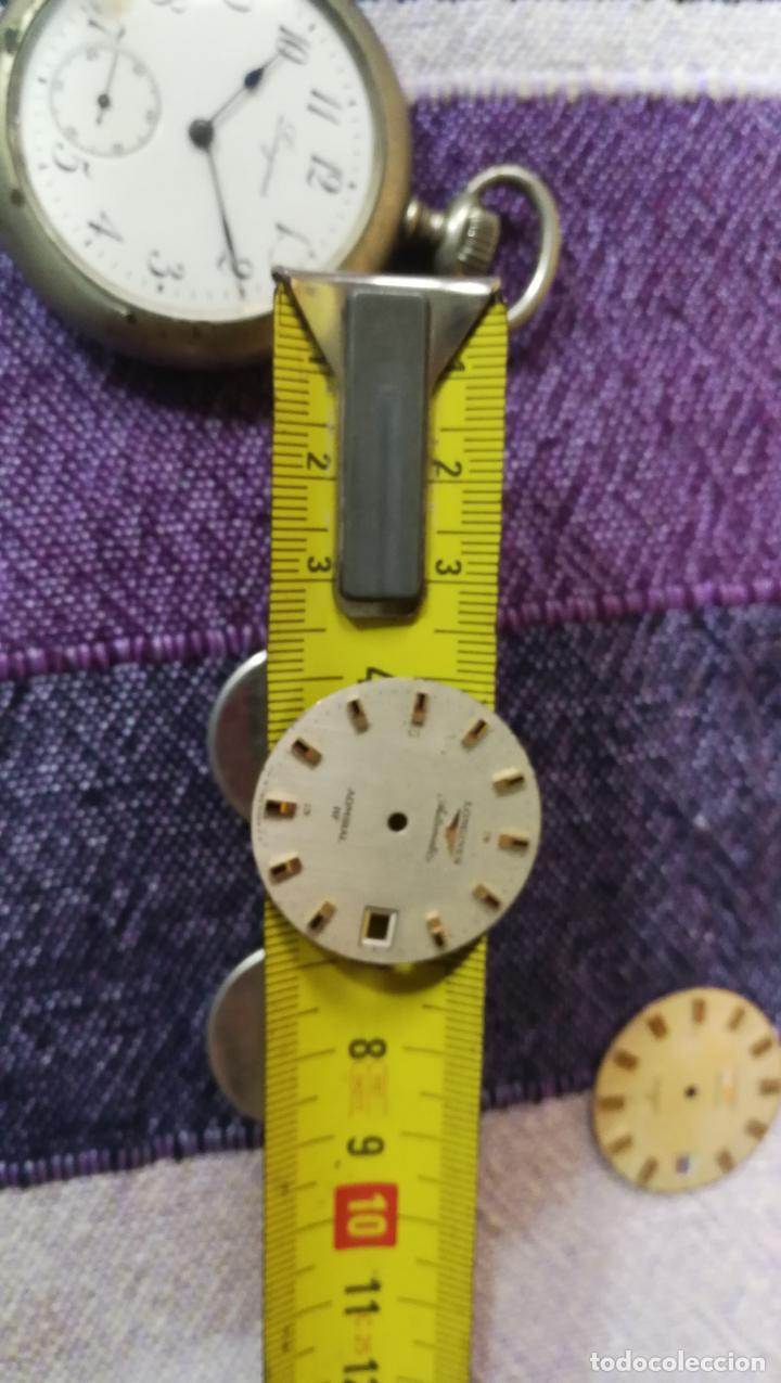 Recambios de relojes: LOTE LONGINES, 1 reloj, 2 esferas, 2 tapas con cuerda creo y armis o correa de caballero todo - Foto 42 - 157736442