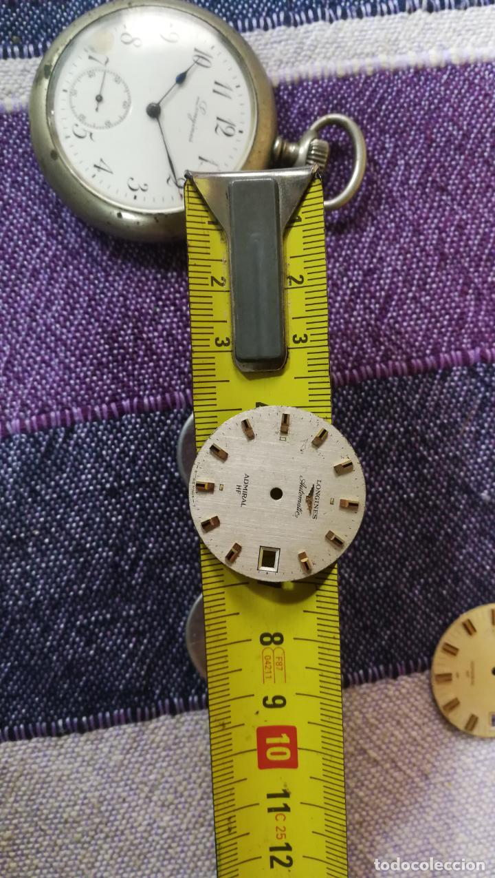 Recambios de relojes: LOTE LONGINES, 1 reloj, 2 esferas, 2 tapas con cuerda creo y armis o correa de caballero todo - Foto 43 - 157736442