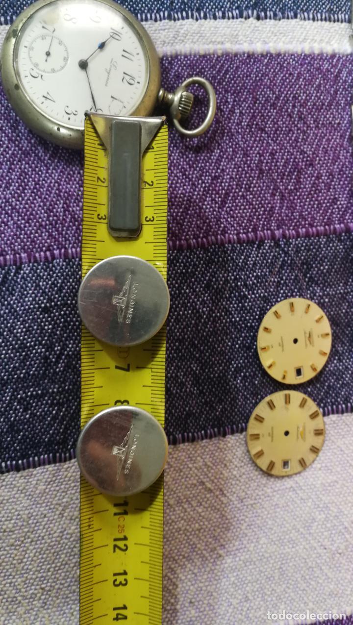 Recambios de relojes: LOTE LONGINES, 1 reloj, 2 esferas, 2 tapas con cuerda creo y armis o correa de caballero todo - Foto 45 - 157736442