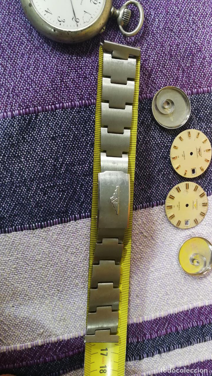 Recambios de relojes: LOTE LONGINES, 1 reloj, 2 esferas, 2 tapas con cuerda creo y armis o correa de caballero todo - Foto 49 - 157736442