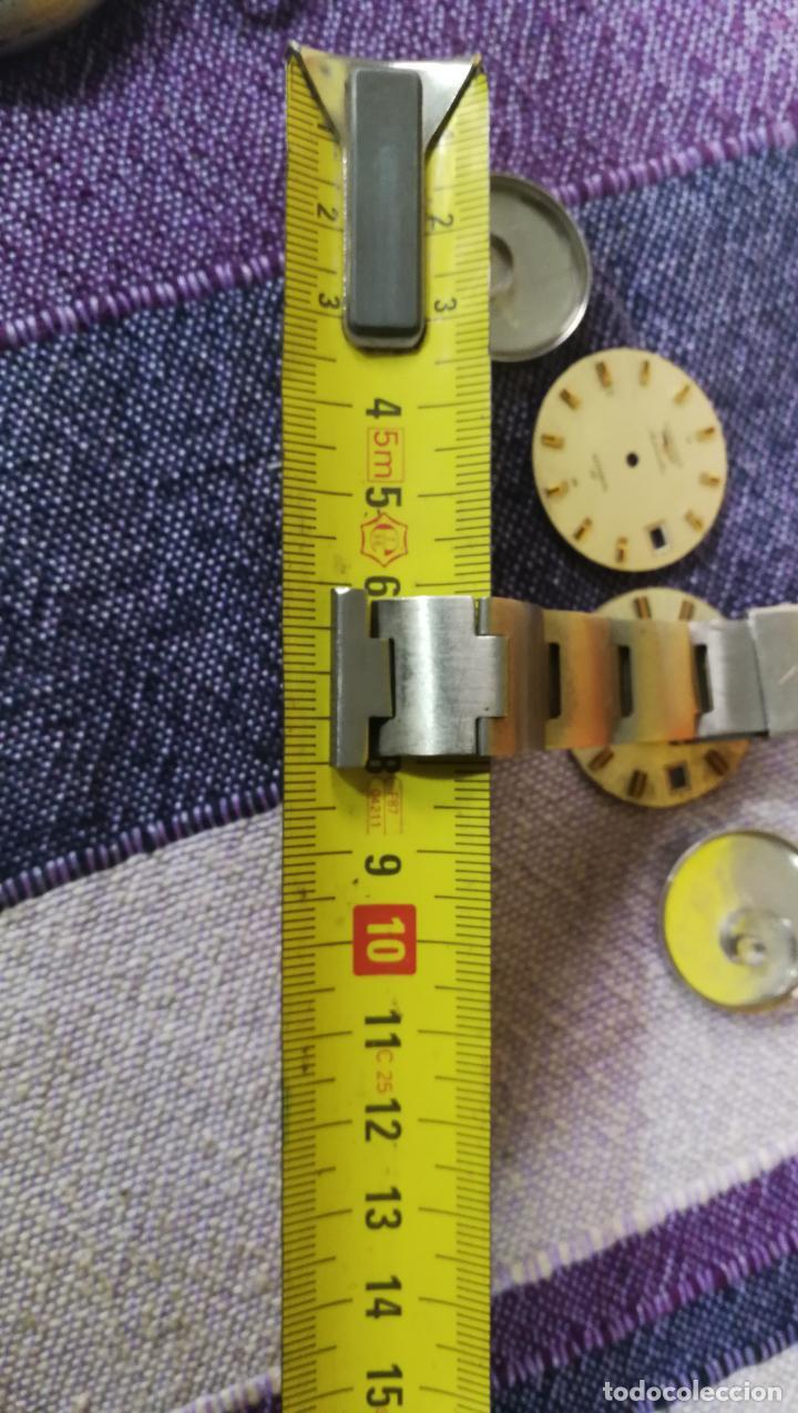 Recambios de relojes: LOTE LONGINES, 1 reloj, 2 esferas, 2 tapas con cuerda creo y armis o correa de caballero todo - Foto 50 - 157736442