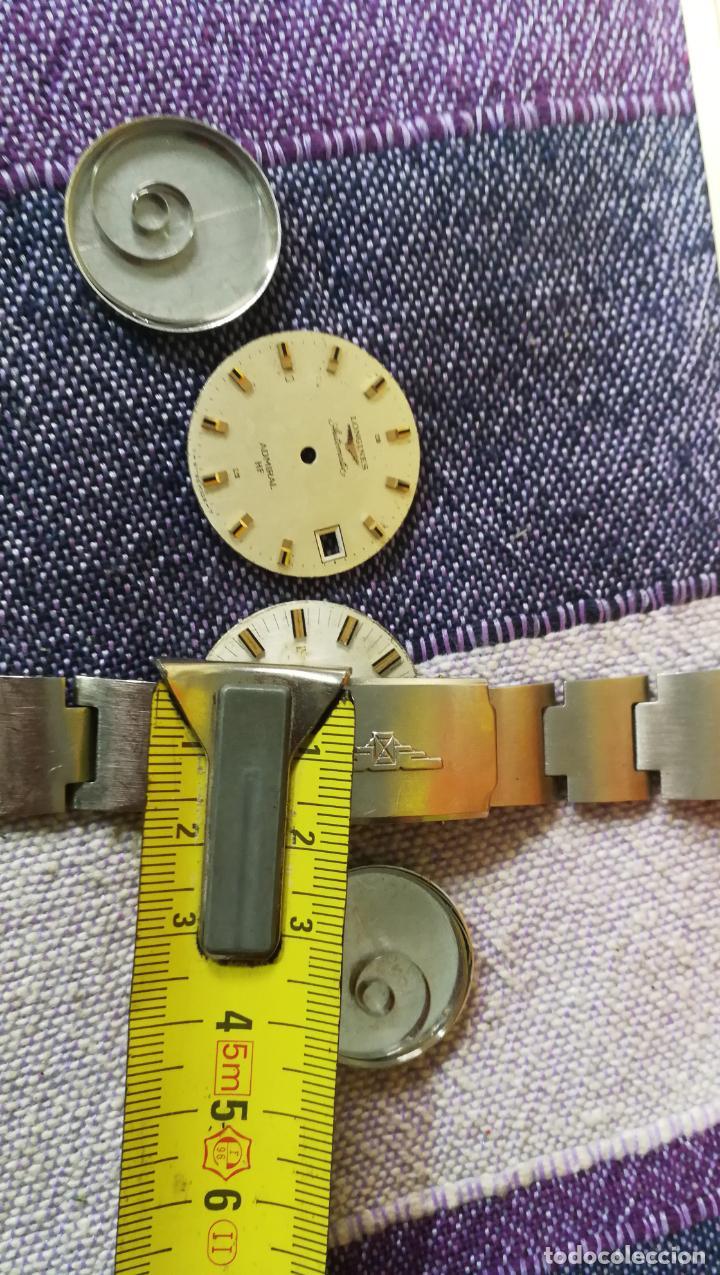 Recambios de relojes: LOTE LONGINES, 1 reloj, 2 esferas, 2 tapas con cuerda creo y armis o correa de caballero todo - Foto 51 - 157736442