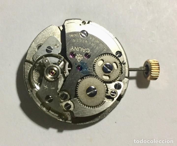 Recambios de relojes: MOVIMIENTO FIRMADO CAUNY CAL. AS/ST 1950/51. FUNCIONA. - Foto 2 - 157752882