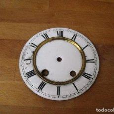 Recambios de relojes: UNA ANTIGUA ESFERA DE PORCELANA PARA RELOJ ALFONSINO- PARA RESTAURAR O PIEZAS- LOTE 165. Lote 158115022