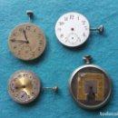 Recambios de relojes: LOTE DE 4 MÁQUINAS DE RELOJ DE BOLSILLO. Lote 159035098