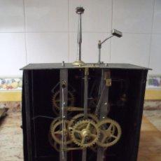 Recambios de relojes: ANTIGUA MAQUINARIA PARA RELOJ MOREZ PESAS SISTEMA CALENDARIO- AÑO 1870-FUNCIONAL- LOTE 168. Lote 159197558