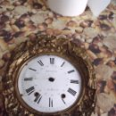 Recambios de relojes: ANTIGUO FRONTAL CON AVES PARA RELOJ MOREZ DE PESAS-ESFERA CALENDARIO-AÑO 1870-LOTE 168. Lote 159198718