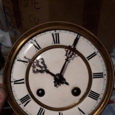 Recambios de relojes: ANTIGUA MAQUINARIA DE RELOJ DE CUERDA. FUNCIONA.. Lote 160463681