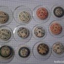 Recambios de relojes: LOTE 12 CRISTALES MINERALES NUMERADOS CURVOS PARA RELOJES VINTAGE. Lote 160709882
