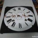 Recambios de relojes: ESFERA CON SOPORTE DE CHAPA PARA RELOJ MOREZ DE PESAS LOTE 1. Lote 161168526