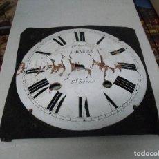 Recambios de relojes: ESFERA CON SOPORTE DE CHAPA PARA RELOJ MOREZ DE PESAS LOTE 1. Lote 185770672