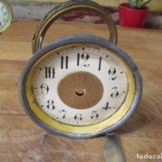 Recambios de relojes: UNA ESFERA Y SOPORTE PARA DESPERTADOR ANTIGUO ART-NOUVEAU O RELOJ SOBREMESA FRANCES-LOTE 183. Lote 161627990