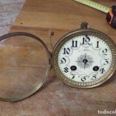 Recambios de relojes: ANTIGUA MAQUINARIA PARIS VICENTI PARA RELOJ SOBREMESA-AÑO 1869- LOTE 183- FUNCIONA EL MOVIMIENTO. Lote 161635354