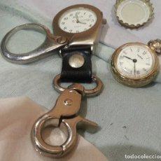 Recambios de relojes: RELOJES DE BOLSILLO. PAREJA DE RELOJES PARA DECORACIÓN, PIEZAS Y RECAMBIOS. . Lote 162589850