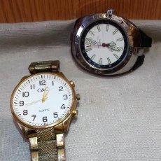 Recambios de relojes: RELOJES DE PULSERA. LOTE DE 2 RELOJES PARA PIEZAS Y RECAMBIOS. DECORACIÓN. . Lote 162590242