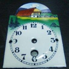 Recambios de relojes: MINI ESFERA PORCELANA CON PAISAJE - 3 FOTOS . 2 CON LAS MEDIDAS EN M/M (CD.Ñ10 ). Lote 162928610