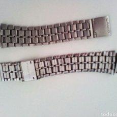 Recambios de relojes: CORREA RELOJ CASIO ACERO INOX. VINTAGE. Lote 163072777