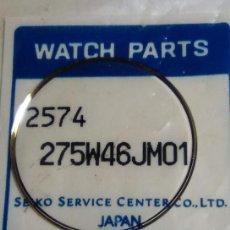 Recambios de relojes: SEIKO - CRISTAL BISELADO EN DORADO PLANO (NUEVO) 2ª FOTO MEDIDAS (CD-840). Lote 163838122