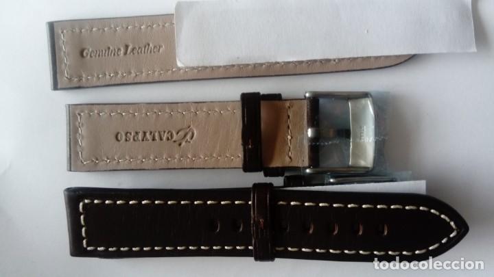 Recambios de relojes: Dos Correas de piel de calidad de 20 mm - Foto 3 - 164166142