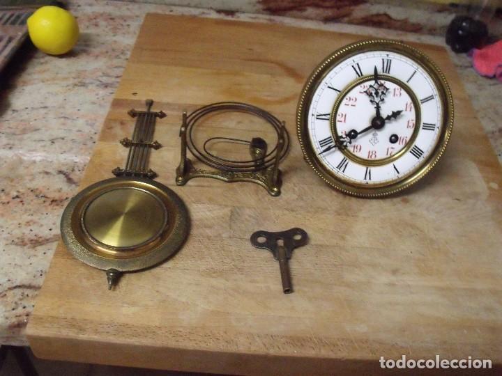 ANTIGUA MAQUINARIA GUSTAV BECKER-LA MEJOR- PARA RELOJ ALFONSINO-AÑO 1890-10-COMPLETA Y FUNCIONAL (Relojes - Recambios)
