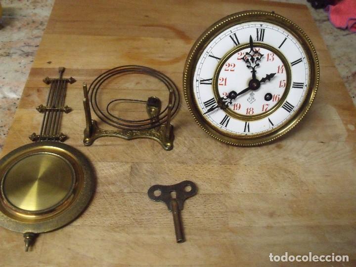 Recambios de relojes: ANTIGUA MAQUINARIA GUSTAV BECKER-LA MEJOR- PARA RELOJ ALFONSINO-AÑO 1890-10-COMPLETA Y FUNCIONAL - Foto 2 - 164748702