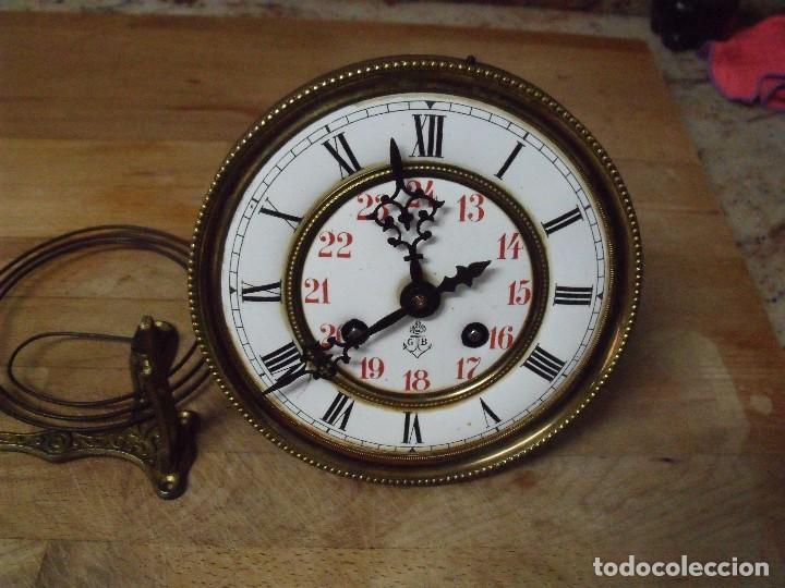 Recambios de relojes: ANTIGUA MAQUINARIA GUSTAV BECKER-LA MEJOR- PARA RELOJ ALFONSINO-AÑO 1890-10-COMPLETA Y FUNCIONAL - Foto 3 - 164748702