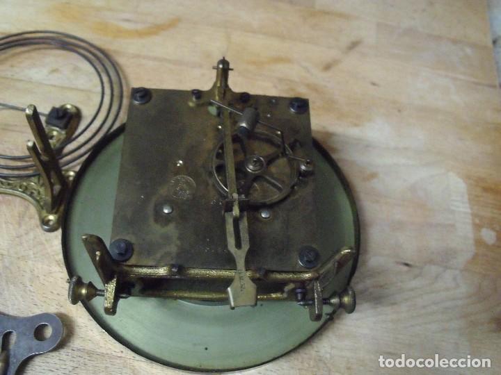 Recambios de relojes: ANTIGUA MAQUINARIA GUSTAV BECKER-LA MEJOR- PARA RELOJ ALFONSINO-AÑO 1890-10-COMPLETA Y FUNCIONAL - Foto 4 - 164748702
