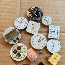 Recambios de relojes: LOTE DE 13 ESFERAS DE RELOJ ALGUNAS CON MECANISMO, IDEAL PRA RECAMBIOS. DIFERENTES MARCAS. Lote 165949158