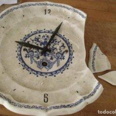 Recambios de relojes: ANTIGUO RELOJ COCINA EN CERAMICA-AÑO 1920- LOTE 194. Lote 167171424