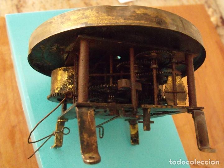 Recambios de relojes: antigua maquinaria reloj alfonsino- año 1900- lote 194 - Foto 3 - 167172256