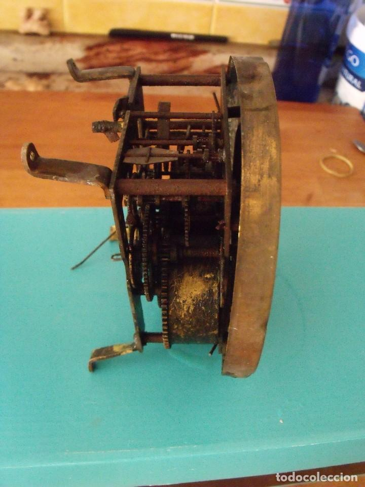 Recambios de relojes: antigua maquinaria reloj alfonsino- año 1900- lote 194 - Foto 5 - 167172256