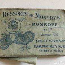 Recambios de relojes: PIEZA DE RECAMBIO DE SONERIA MARCA RESSORTS DE MONTRES ROSKOPF Nº 17.. Lote 167538396
