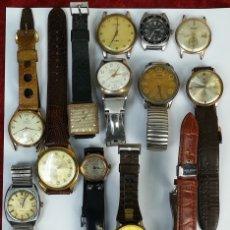 Recambios de relojes: LOTE DE RELOJES DE MUJER Y CABALLERO. PIEZAS PARA RECAMBIO. DIVERSAS ÉPOCAS Y MATERIALES. Lote 167796180