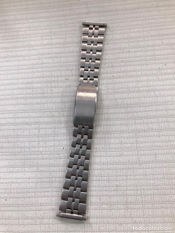 CORREA ACERO AJUSTABLE VINTAGE ( 16 MM/ 22 MM ) (Relojes - Recambios)