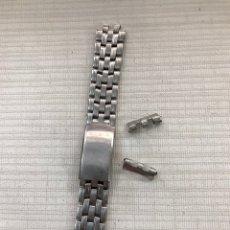 Recambios de relojes: CORREA BRACELET CASIO 20 MM ACERO PARA RELOJ. Lote 167804228