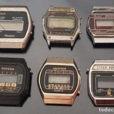 Recambios de relojes: LOTE 6 RELOJES DIGITALES VINTAGE COMO SE VE EN LAS FOTOS PARA REPARAR O DESPIECE. Lote 169786132