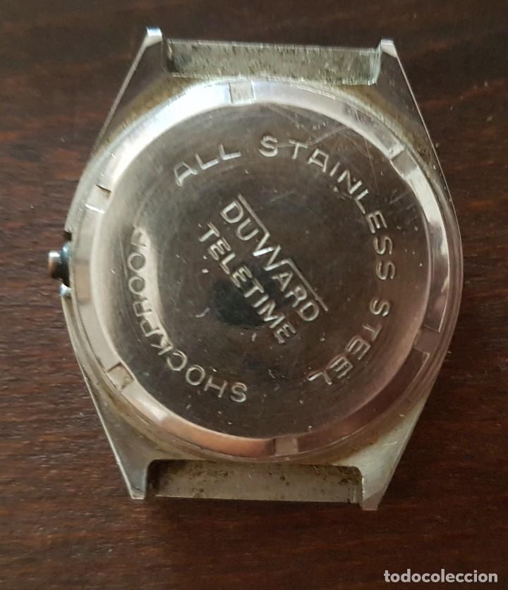 Recambios de relojes: Antiguo reloj Duward Teletime Quartz para reparar o despiece - Foto 2 - 169789496