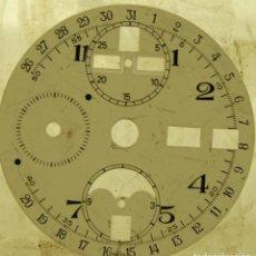 Recambios de relojes: ESFERA PARA CRONO VALJOUX TRIPLE CALENDARIO FASE DE LUNA. Lote 169940464