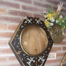 Recambios de relojes: CAJA Y FRONTAL CON NACAR Y MARQUETERIA PARA OJO DE BUEY - LOTE 161. Lote 170028940