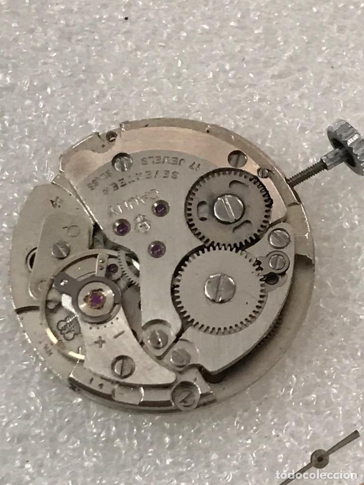 Recambios de relojes: Maquinaria reloj calibre as 1950/51 CAUNY carga manual - Foto 6 - 170042385