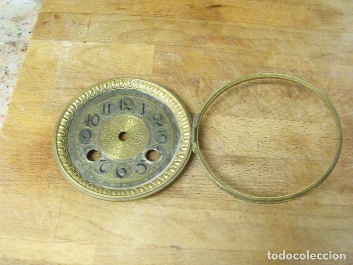 Recambios de relojes: extraordinaria esfera con puerta para reloj sobremesa- o imperio- lote 162 - Foto 2 - 170117040