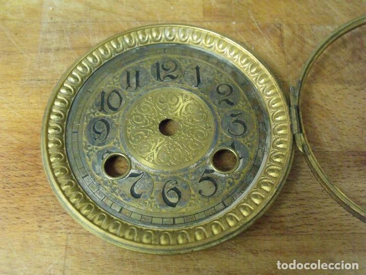 Recambios de relojes: extraordinaria esfera con puerta para reloj sobremesa- o imperio- lote 162 - Foto 3 - 170117040