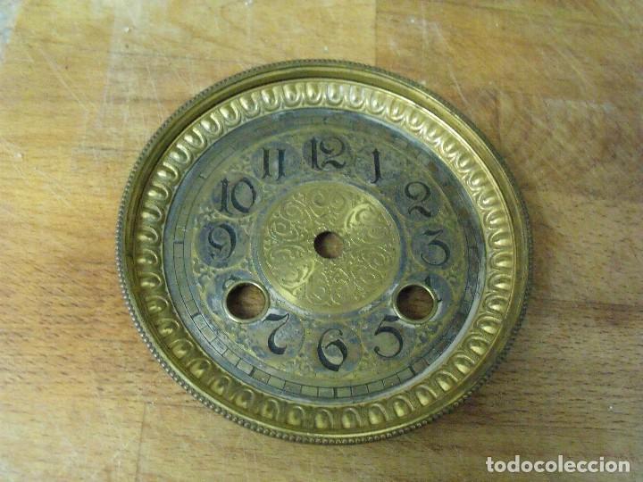 Recambios de relojes: extraordinaria esfera con puerta para reloj sobremesa- o imperio- lote 162 - Foto 4 - 170117040