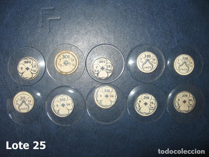 Recambios de relojes: Lote de medianos y antiguos cristales para relojes de pulsera o bolsillo. - Foto 3 - 170165148
