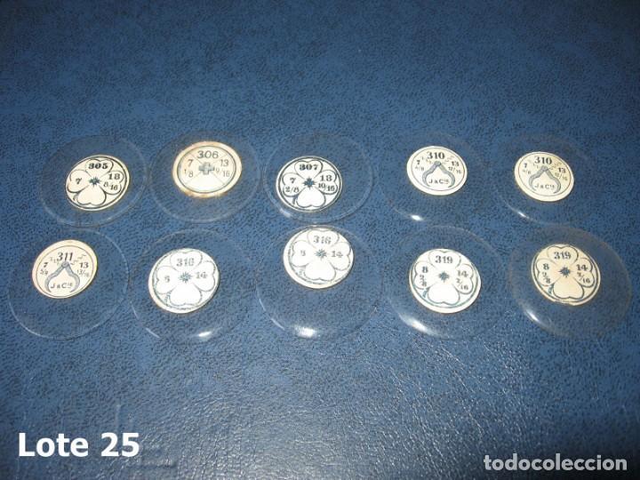 Recambios de relojes: Lote de medianos y antiguos cristales para relojes de pulsera o bolsillo. - Foto 4 - 170165148